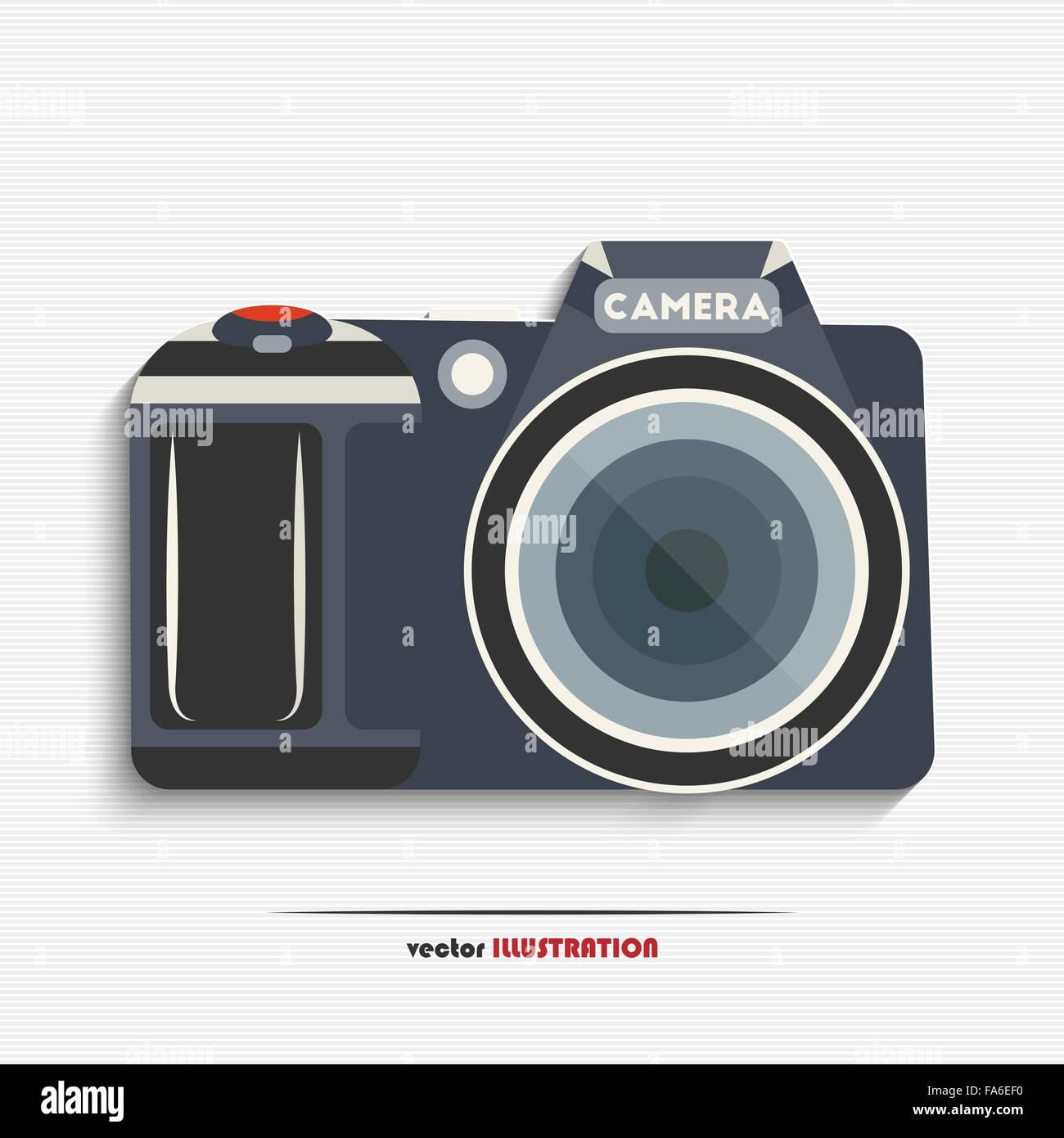 Vector illustration of digital SLR camera for your design - Stock Vector