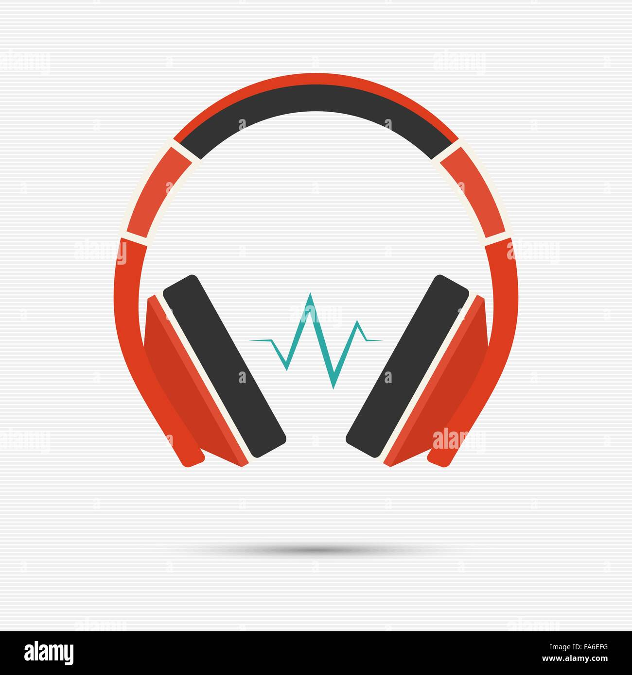 Vector illustration of headphones for your design - Stock Image