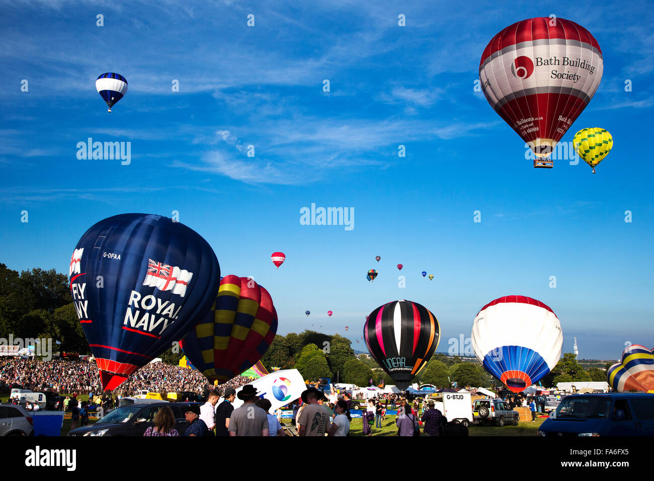 Bristol International Hot Air Balloon Fiesta 2015 Stock Photo