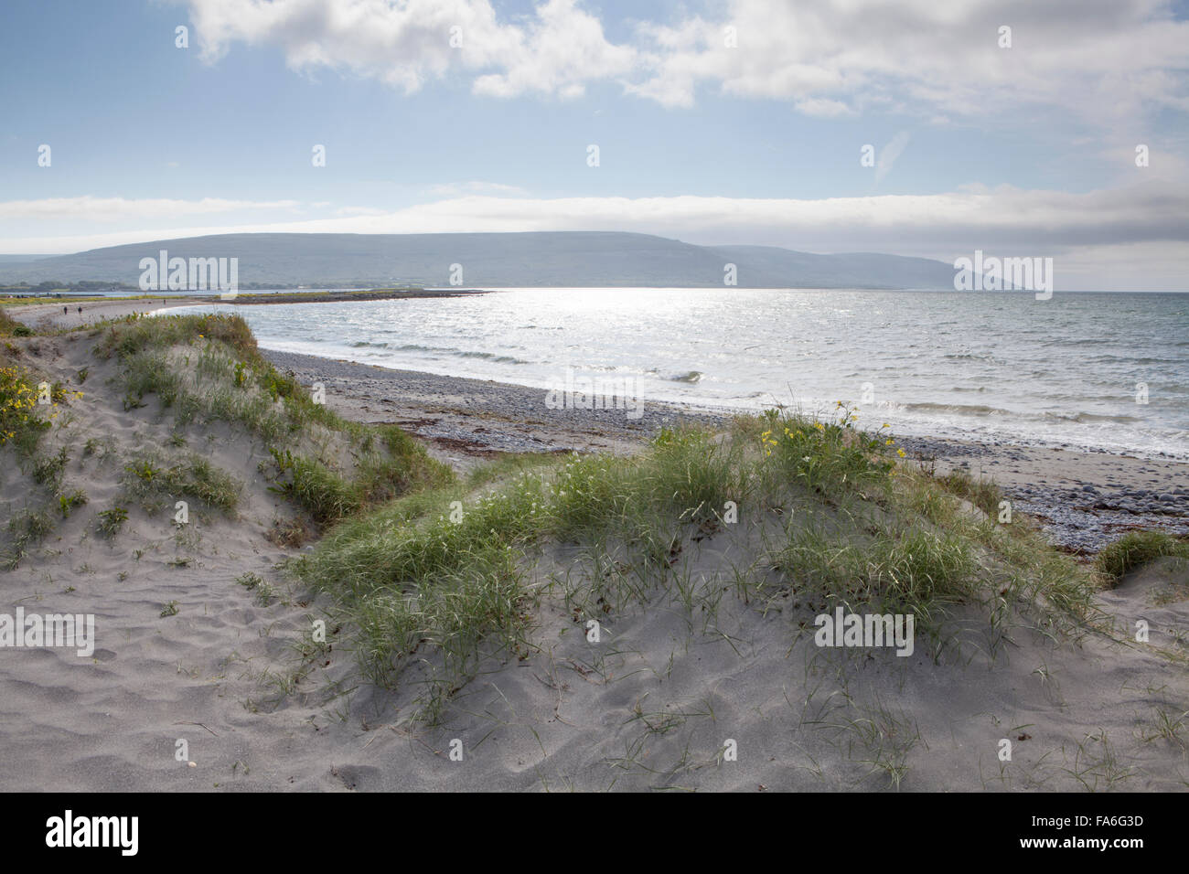 Bishops Quarter beach near Ballyvaughan, County Clare in Ireland - Stock Image