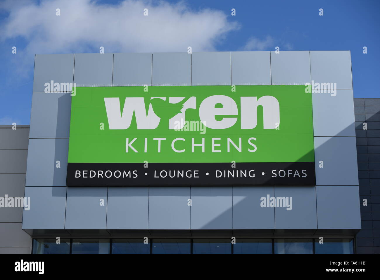 wren kitchens shop in solihuill uk - Stock Image