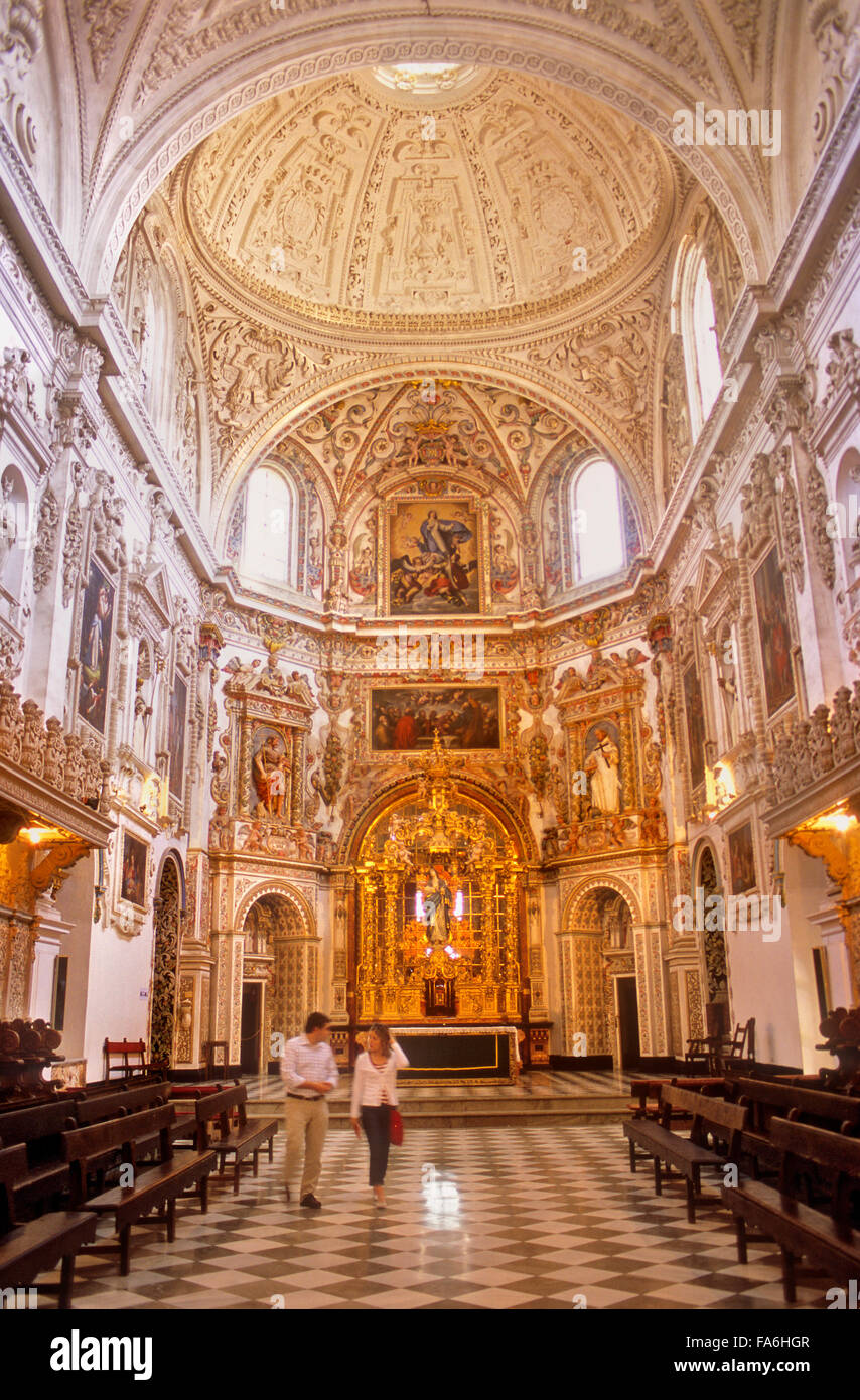 Monastery of La Cartuja.Church.Granada. Andalucia, Spain - Stock Image
