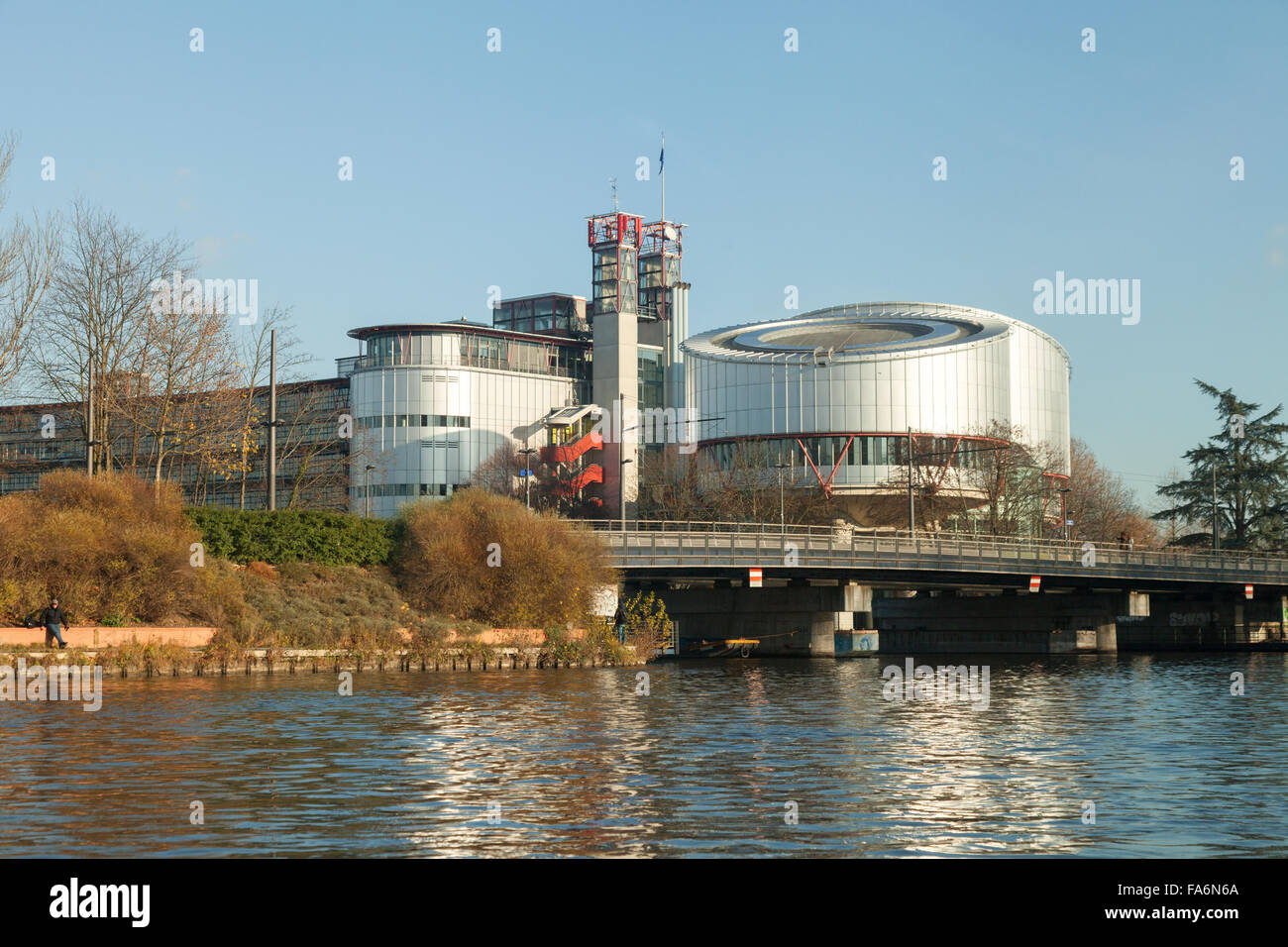 The European Court of Justice ( ECJ )building, Strasbourg Alsace France Europe - Stock Image