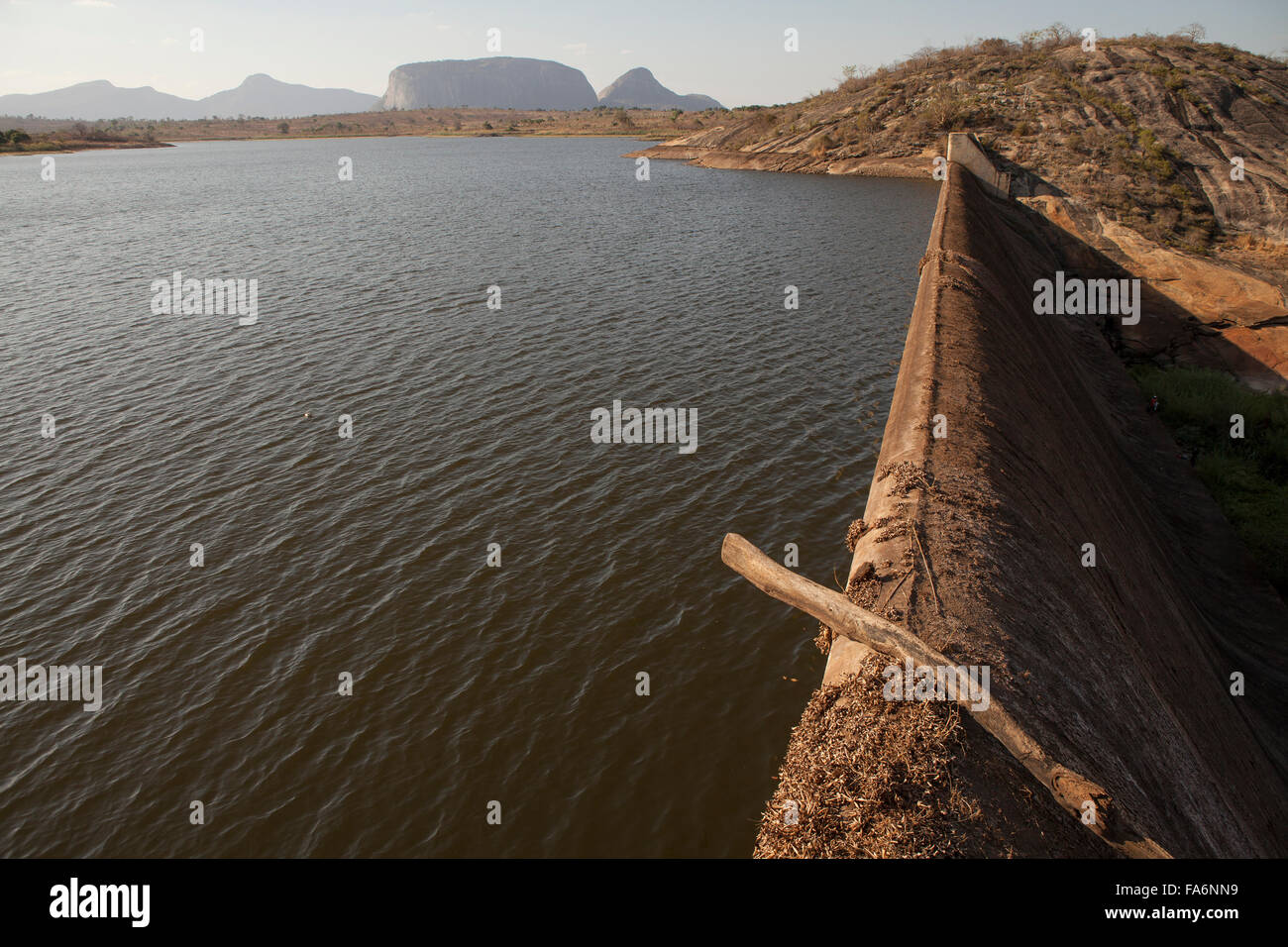 The Manapo Dam supplies water to the town of Nampula, Mozambique and areas beyond. - Stock Image