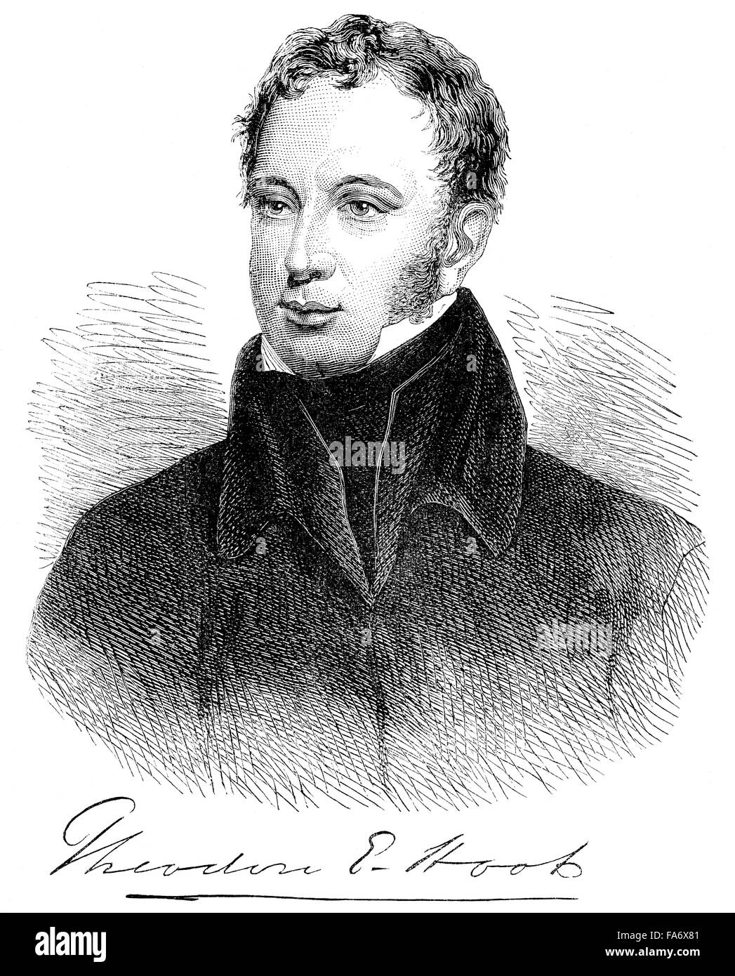 Theodore Edward Hook, 1788-1841, an English man of letters and composer, Stock Photo