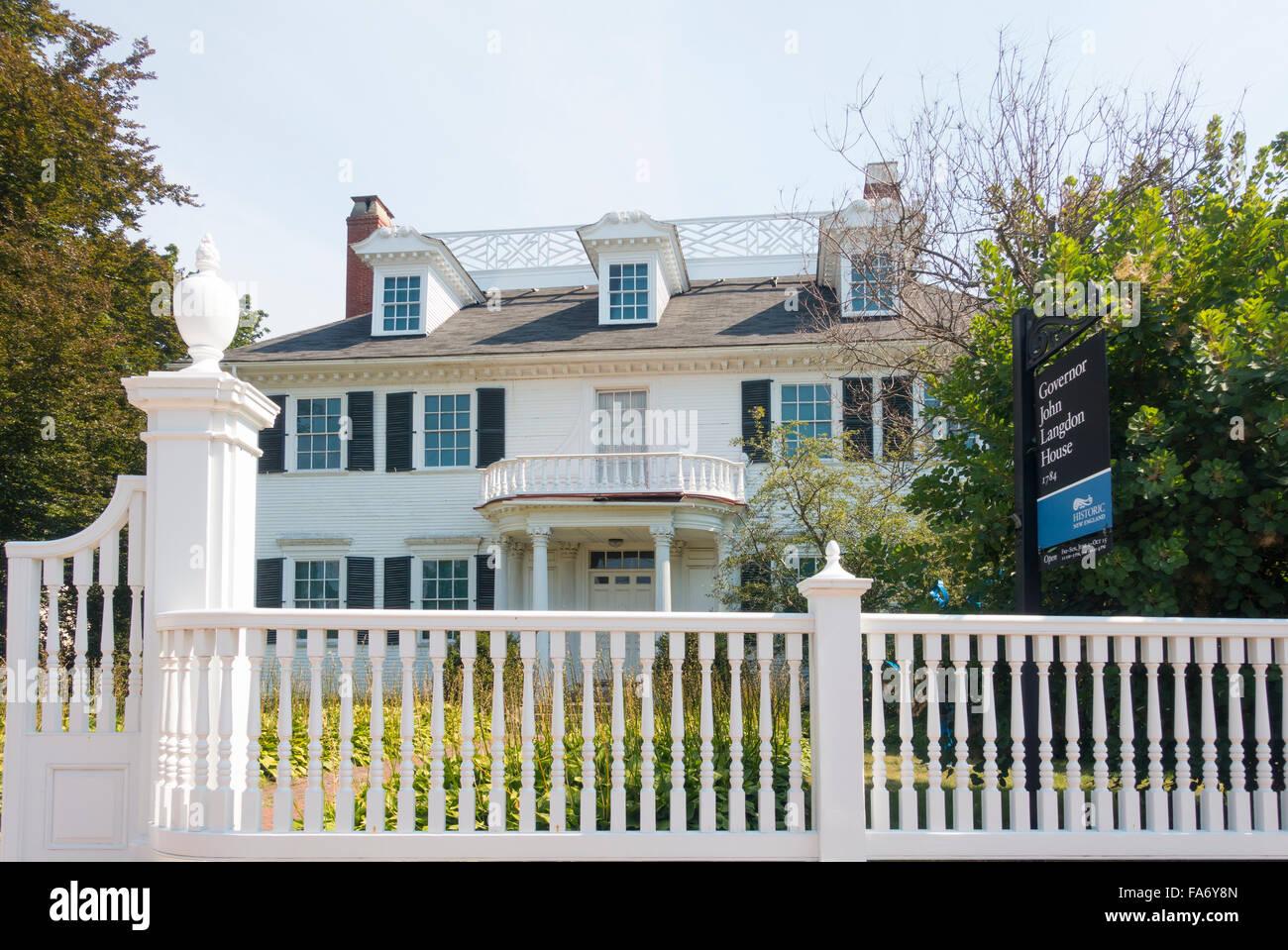 Langdon House Portsmouth NH - Stock Image
