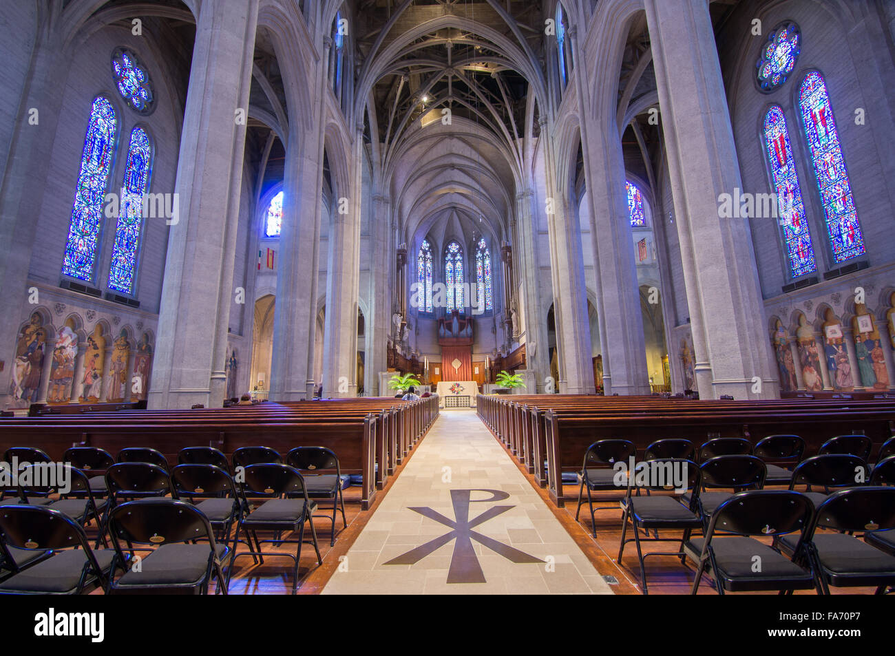 SAN FRANCISCO, CALIFORNIA - March 29, 2015: Grace Cathedral church of the Episcopal Diocese of California. - Stock Image