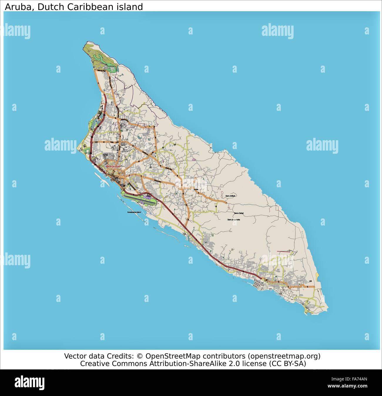 Picture of: Aruba Dutch Caribbean Location Map Stock Photo Alamy