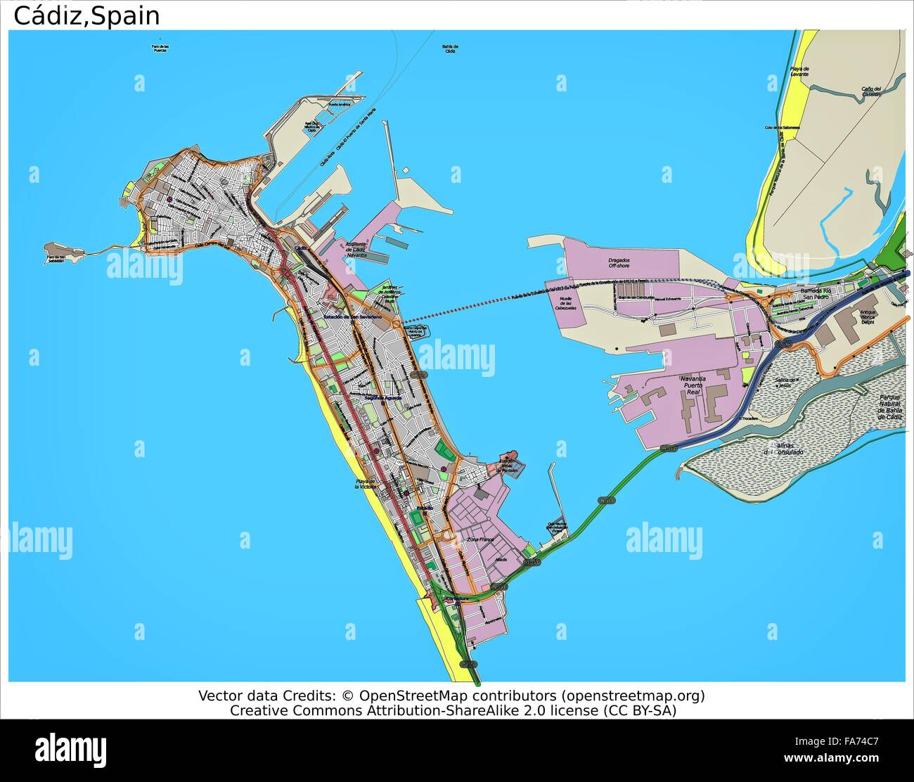 Cadiz Spain Location Map