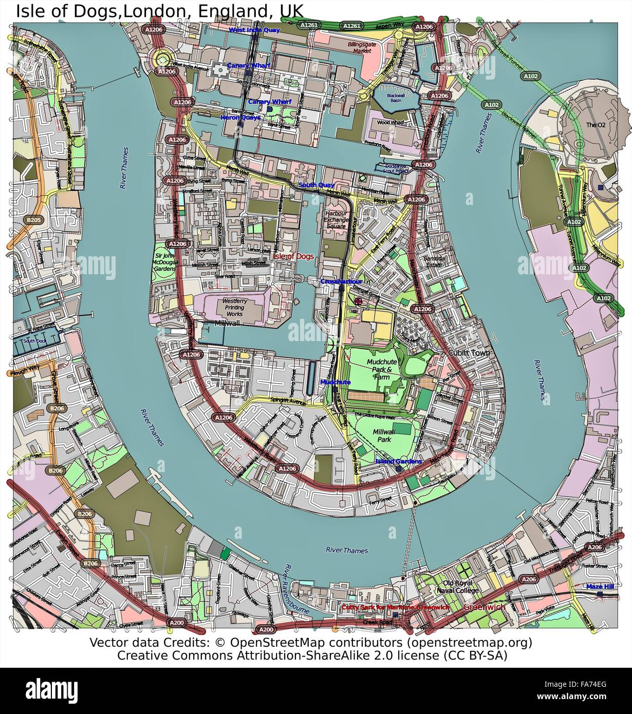 Isle Of Dogs Map Isle Of Dogs Map Stock Photos & Isle Of Dogs Map Stock Images   Alamy Isle Of Dogs Map