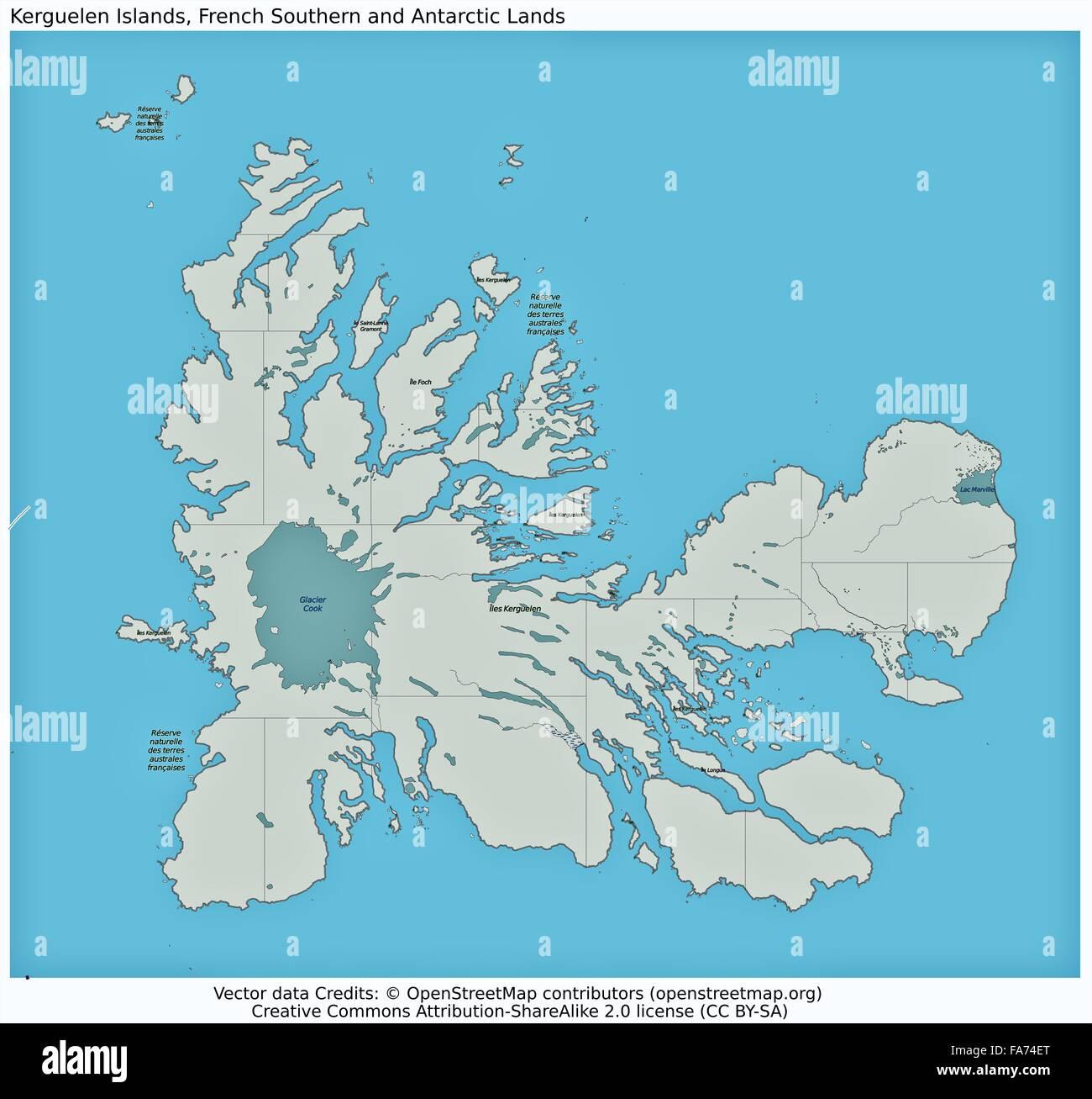 Kerguelen France location map Stock Photo 92355616 Alamy