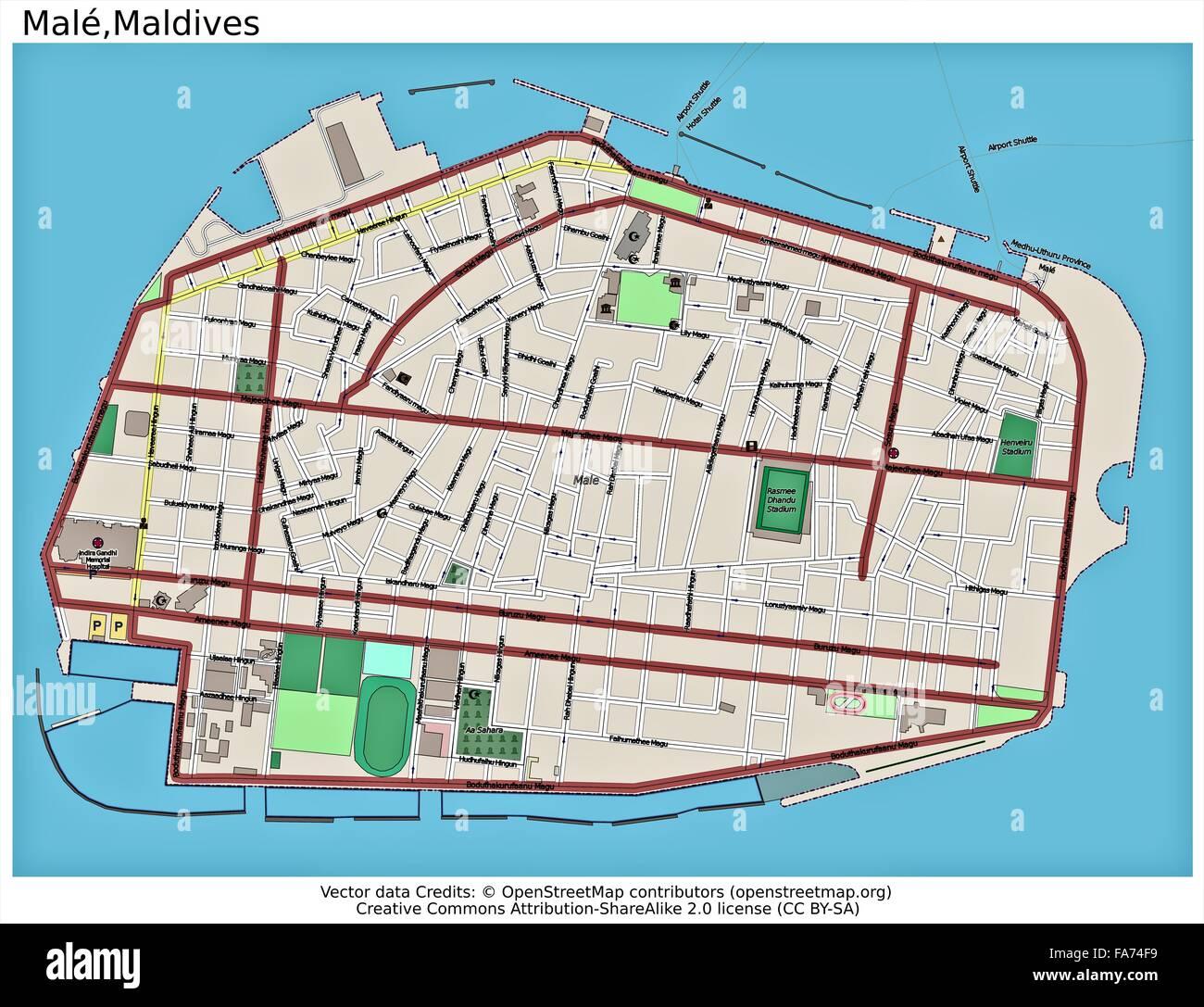Male Maldives Location Map Stock Photo 92355629 Alamy