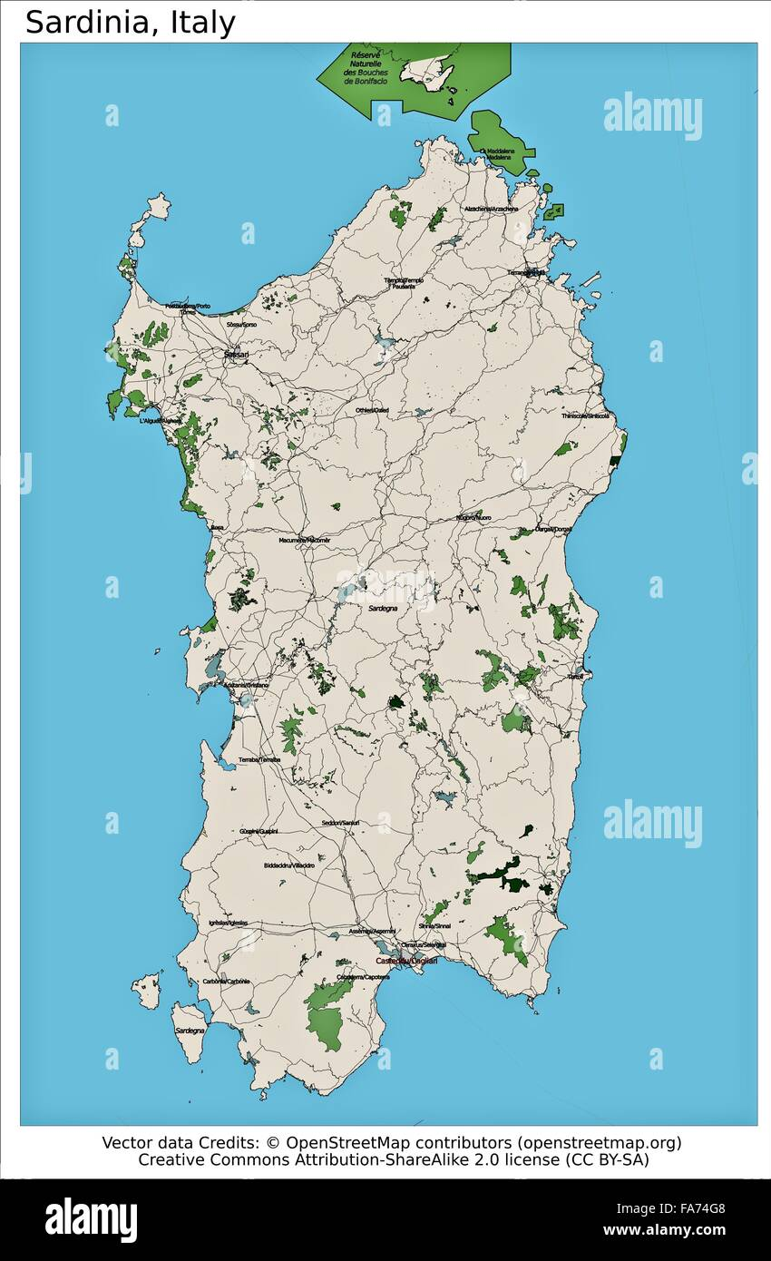 Sardinia Italy Location Map Stock Photo 92355656 Alamy