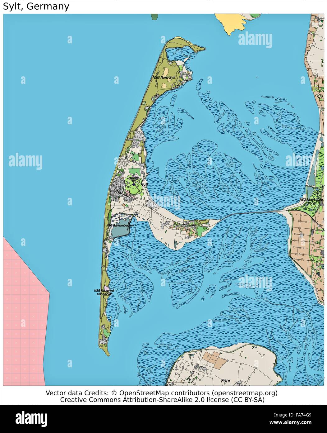 sylt germany location map