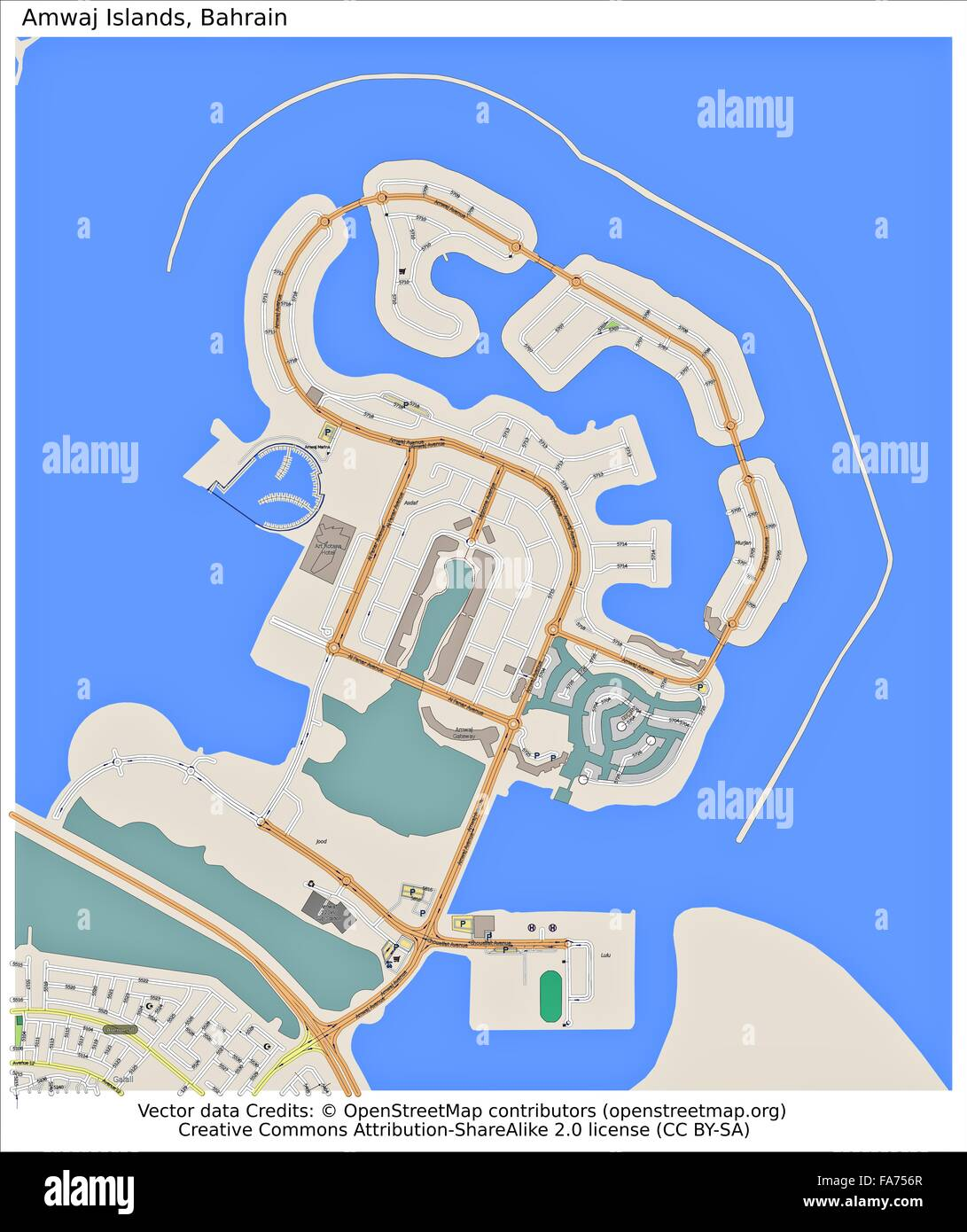 Amwaj Islands Bahrain location map Stock Photo: 92356175 - Alamy