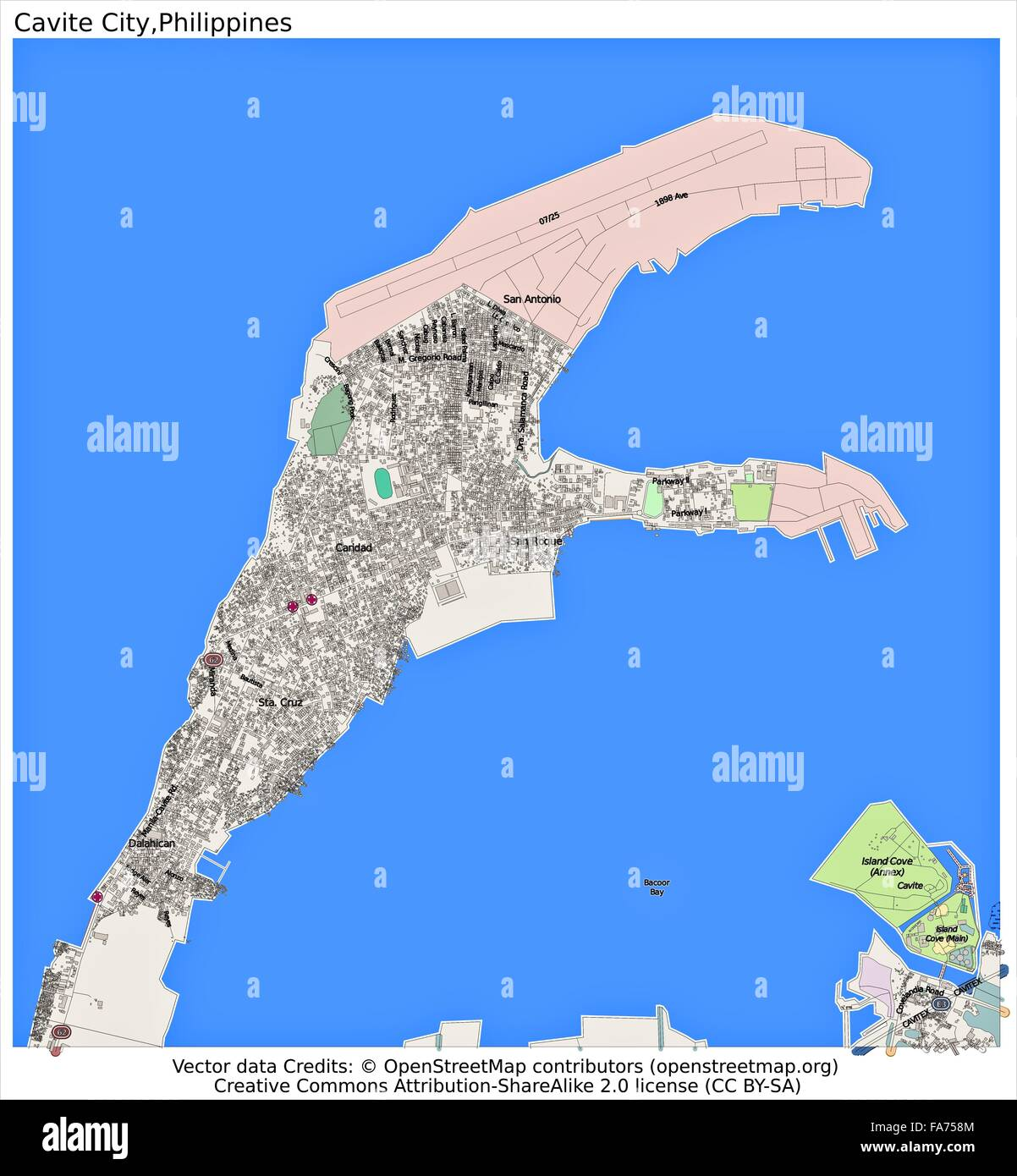 Cavite City Philippines Location Map Stock Photo 92356228 Alamy