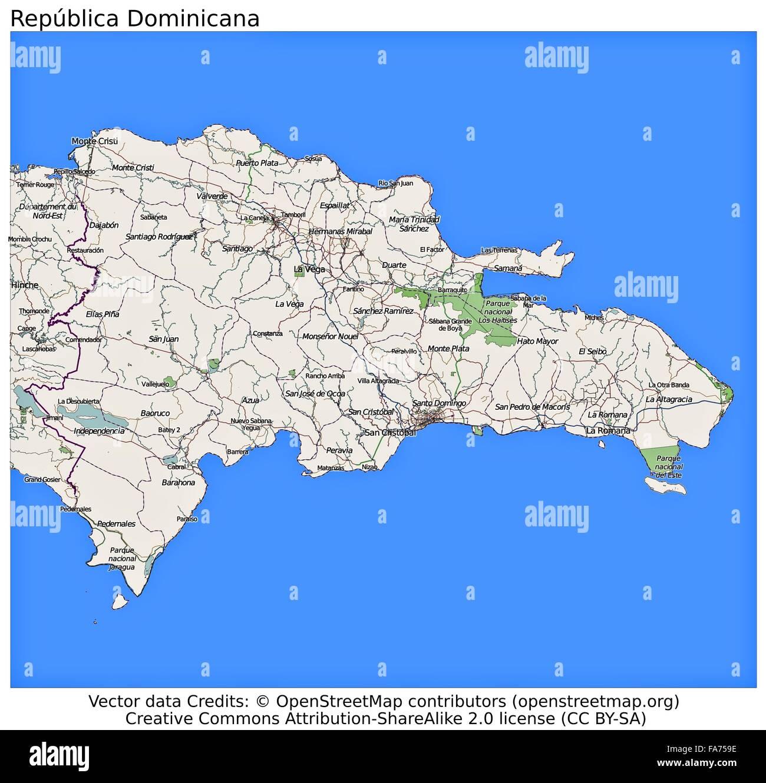 Vector Map Dominican Republic Capital Stock Photos & Vector Map ...