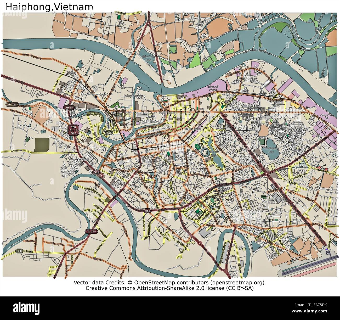 Haiphong Vietnam Map.Haiphong Vietnam Location Map Stock Photo 92356367 Alamy