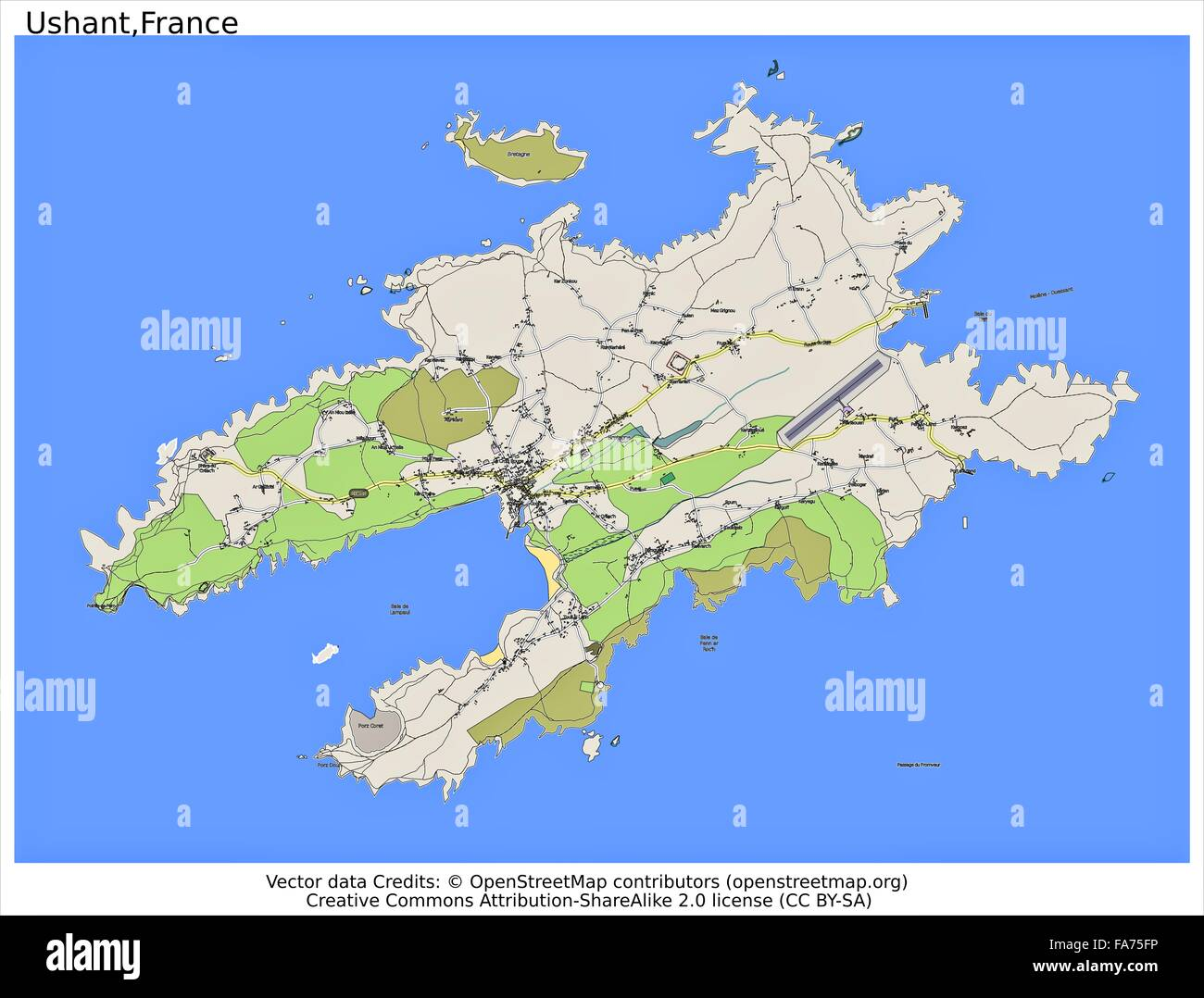 Ushant France location map Stock Photo 92356426 Alamy