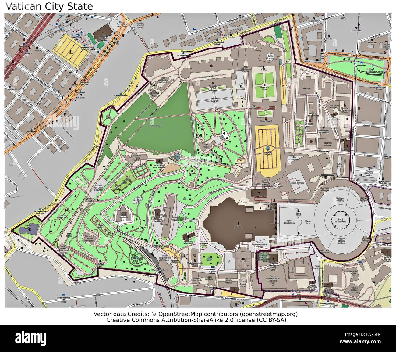 Vatican City State location map Stock Photo: 92356427 - Alamy