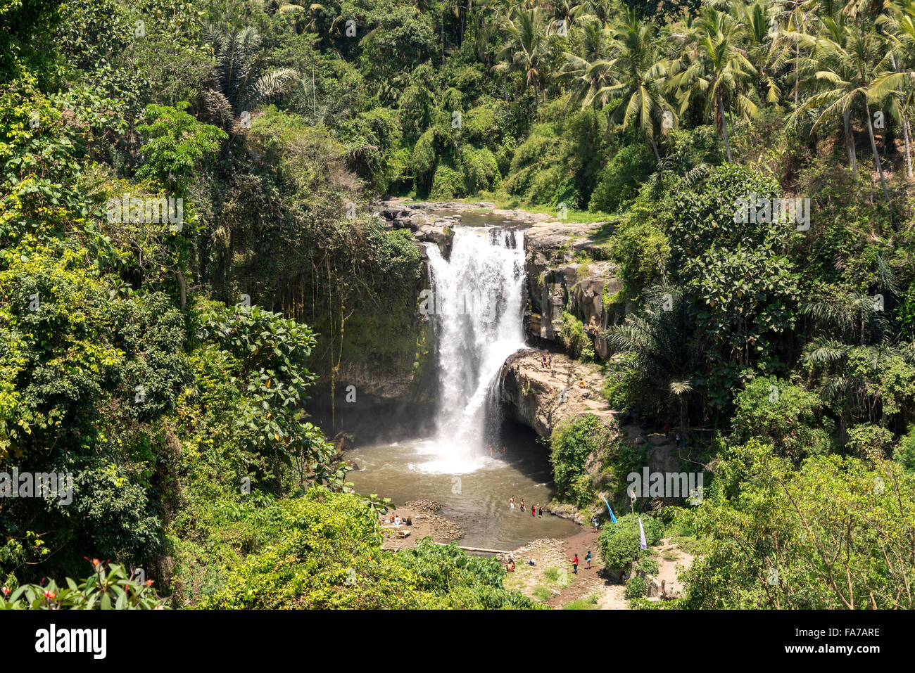 Tegenungan waterfall near Ubud, Bali, Indonesia - Stock Image