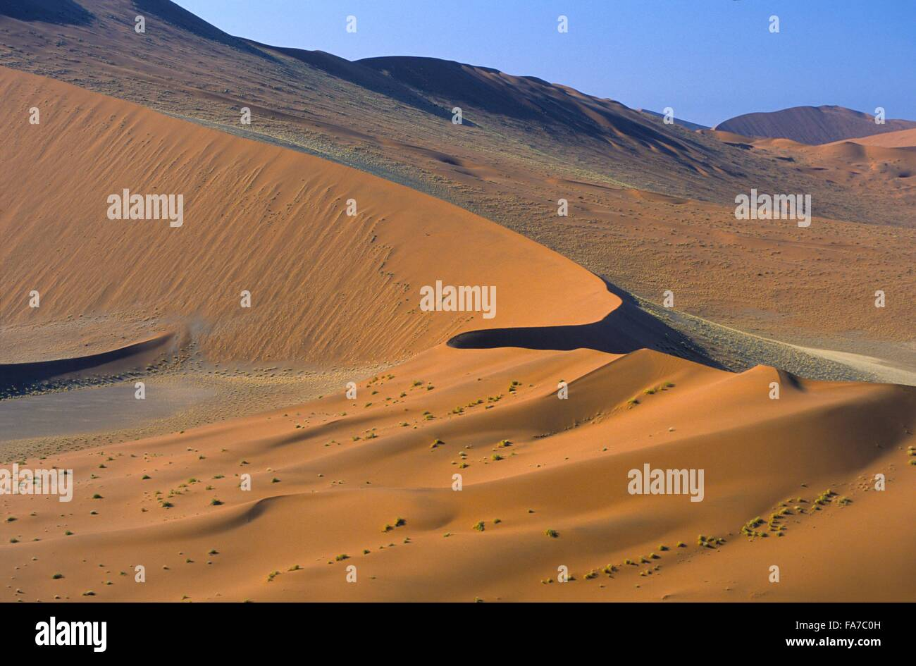 Namibia, Namib-Naukluft National park, Sesriem, viewed from Dune 45,   // Namibie, Namib-Naukluft National park, - Stock Image