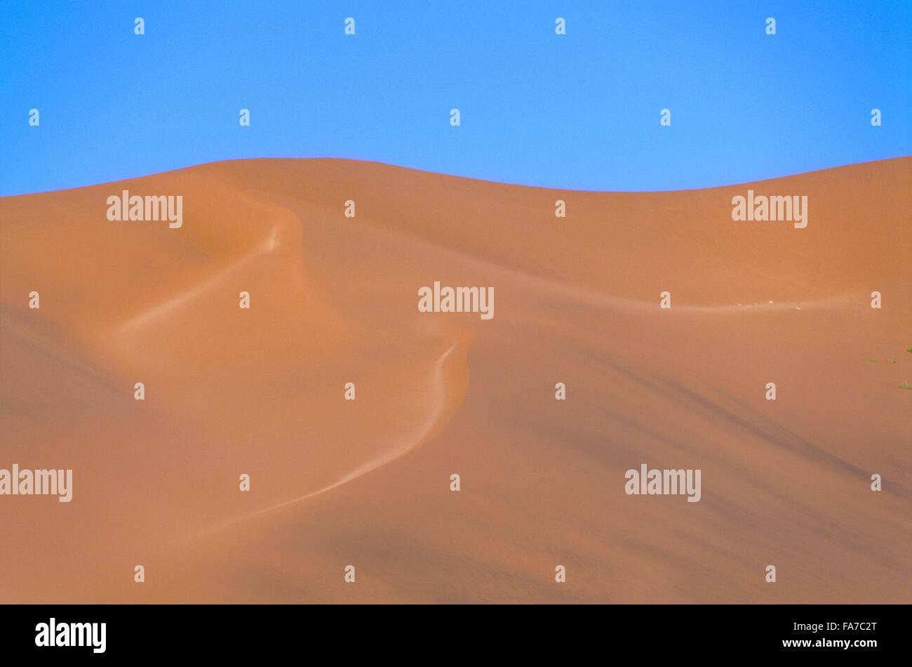 Namibia, Namib-Naukluft National park, dune's patternSesriem // Namibie, Namib-Naukluft National park, Sesriem, - Stock Image
