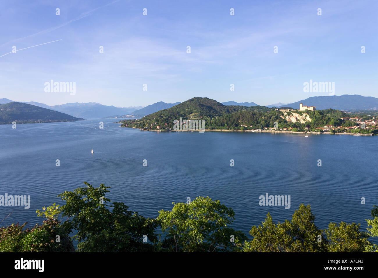 Italy, Piedmont, Arona, Lake Maggiore - Stock Image
