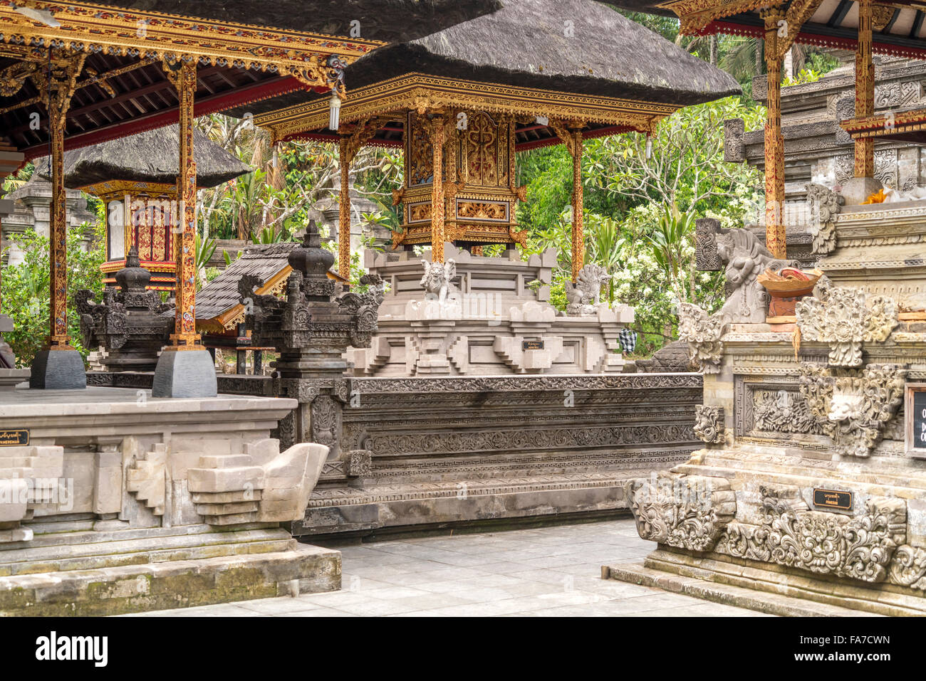 the Hindu water temple Tirta Empul near Ubud, Bali, Indonesia - Stock Image