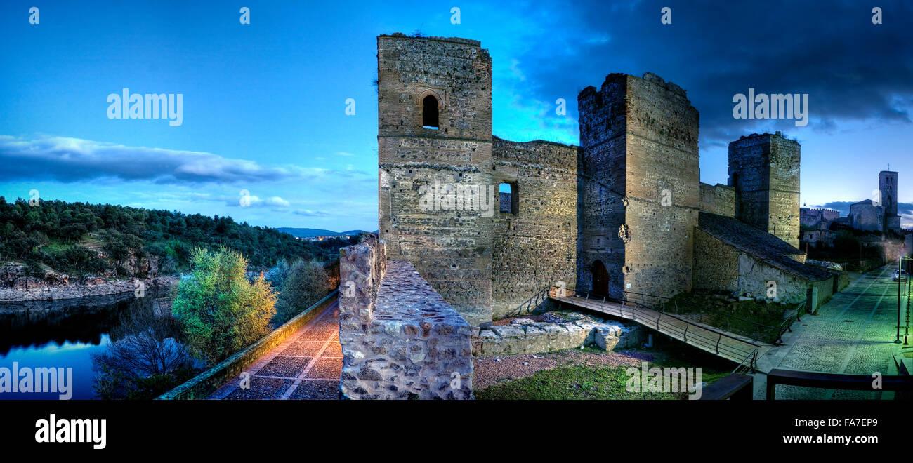 Castle Gothic_Mudejar (XVth century), Buitrago de Lozoya. Madrid Province. Spain - Stock Image
