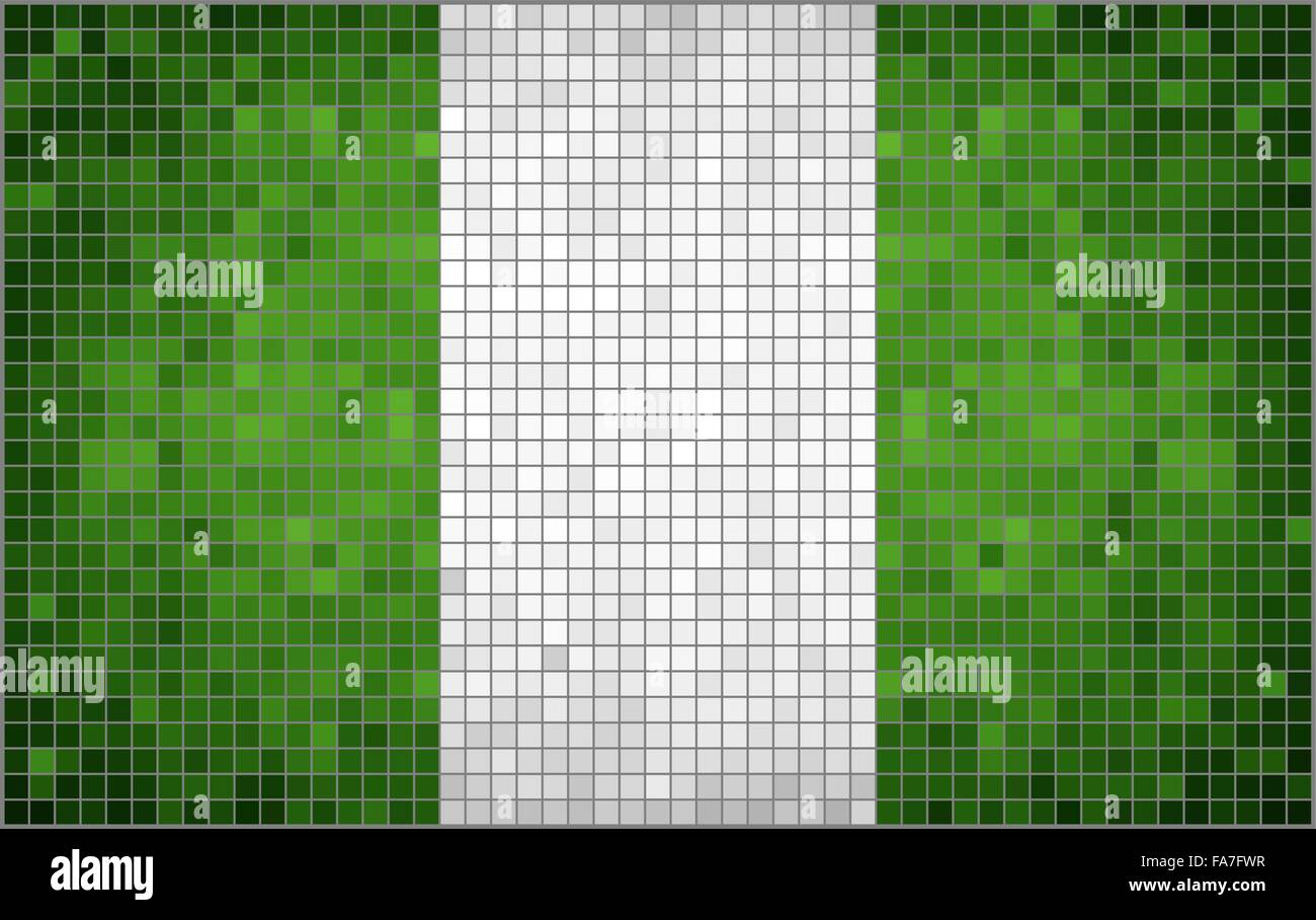 Flag of Nigeria - Stock Vector