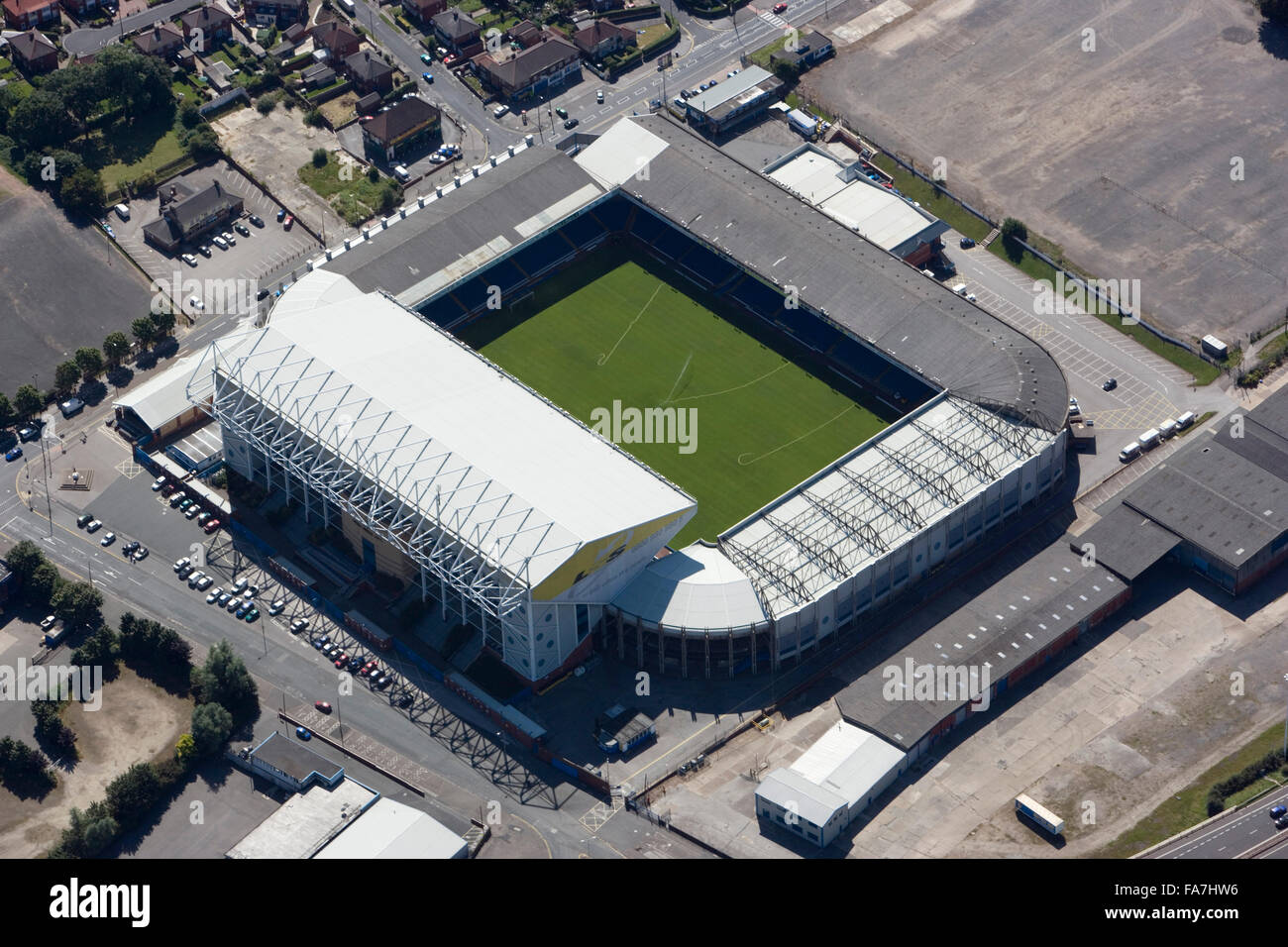Elland Road Stadium Leeds Aerial View Home Of Leeds United Stock Photo Alamy