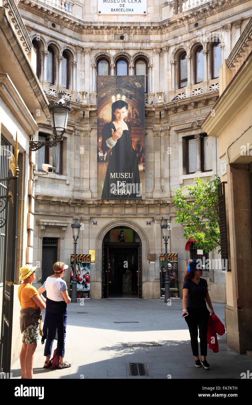 Waxwork Museum (Museu de Cera),  Barri Gotic, Barcelona, Spain, Europe - Stock Image