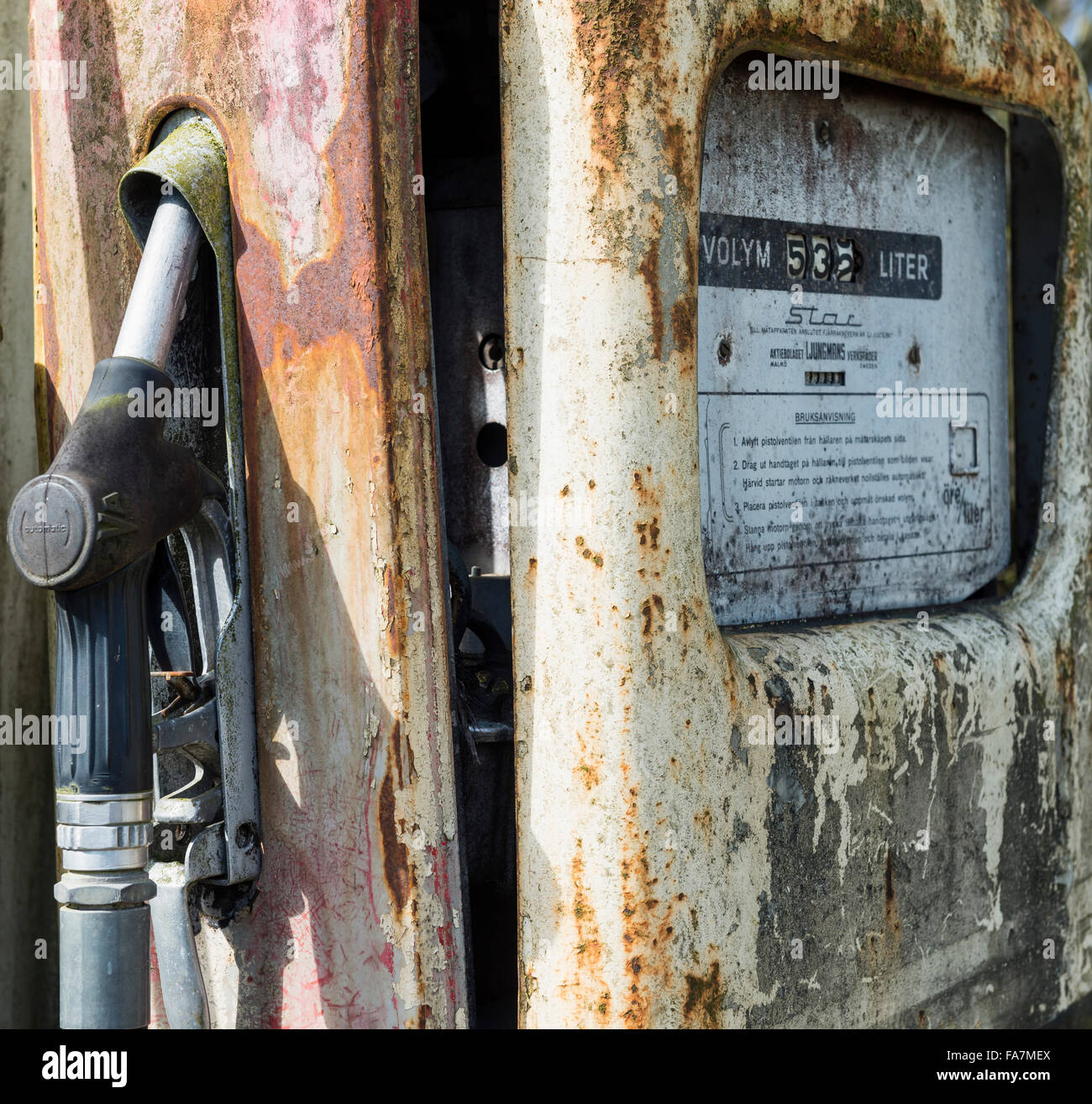 Old petrol pump - Stock Image
