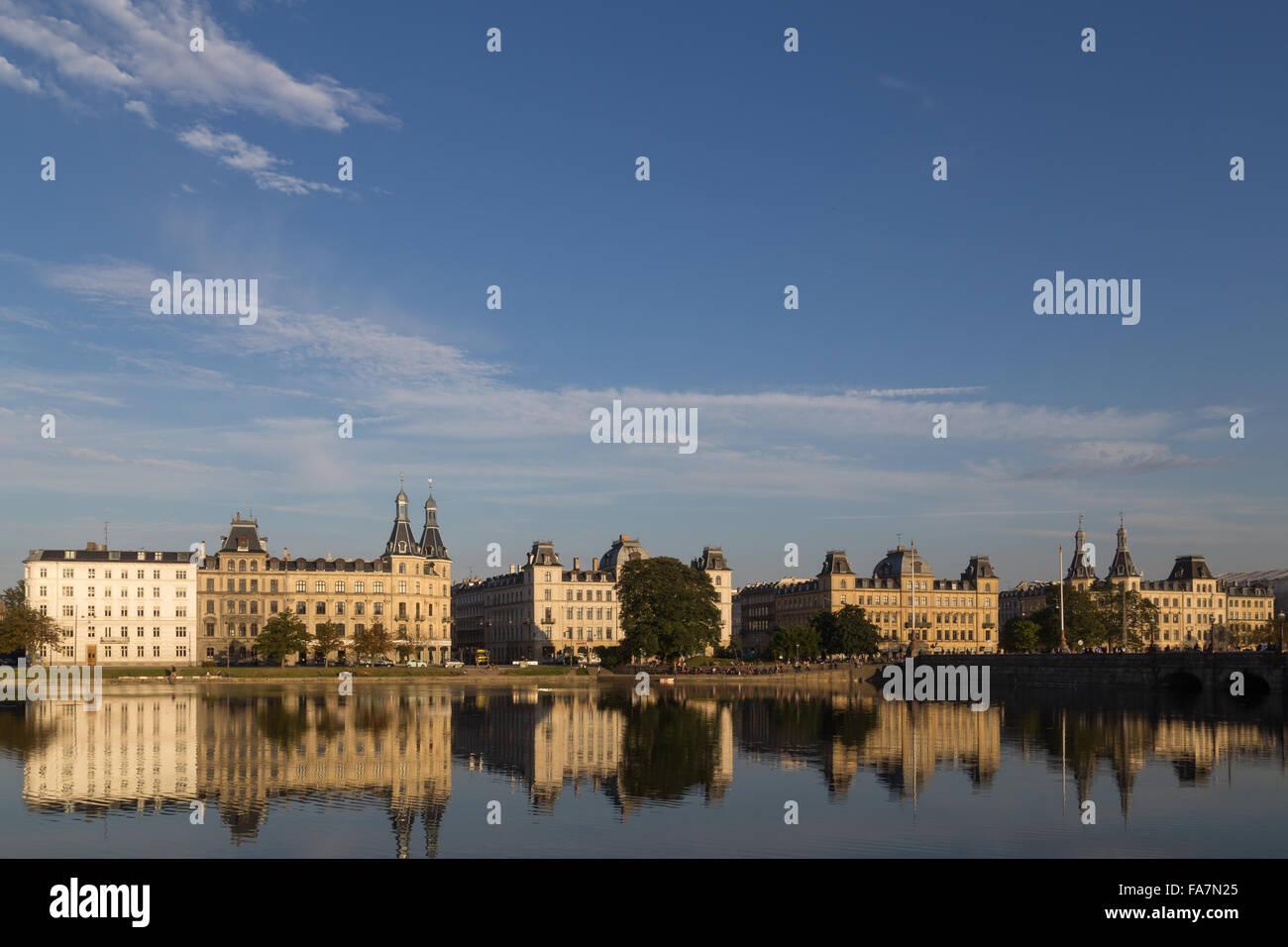 View over Sortedams Lake in Copenhagen, Denmark. - Stock Image
