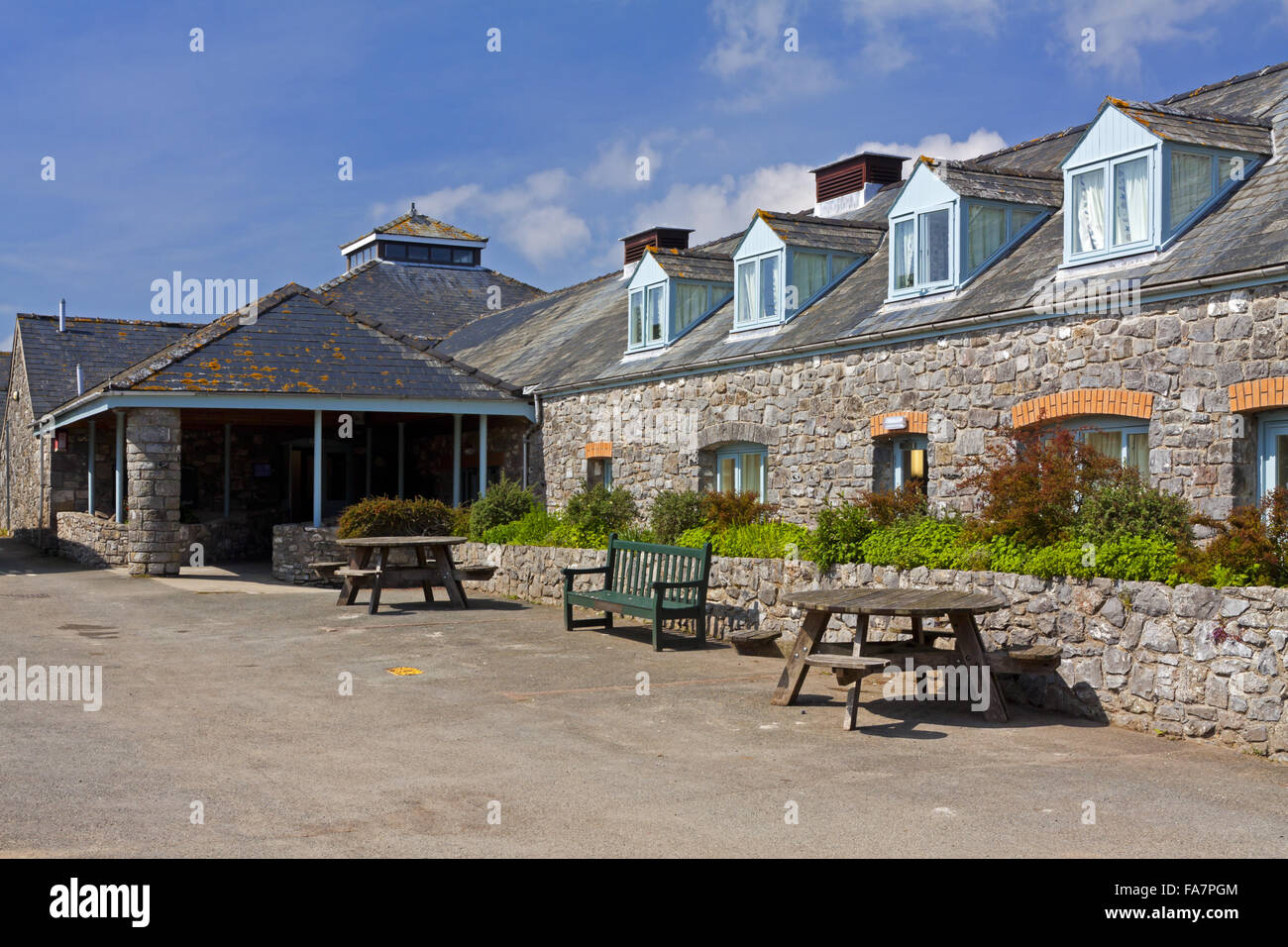 Exterior of the Stackpole Outdoor Learning Centre, on the Stackpole Estate, Pembrokeshire. - Stock Image