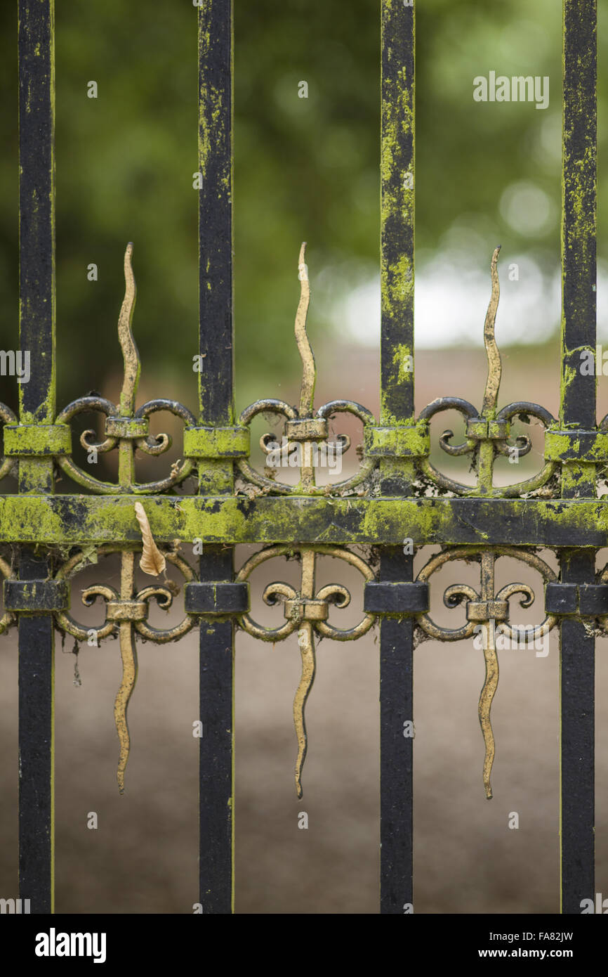 Detail of metalwork near the Orangery Cafe at Ham House and Garden, Surrey. - Stock Image