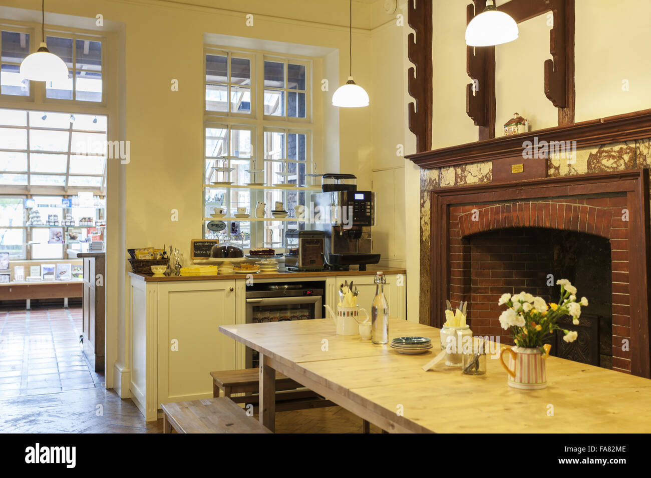 Tea-room area in the second hand bookshop cafe, Sutton House and ...
