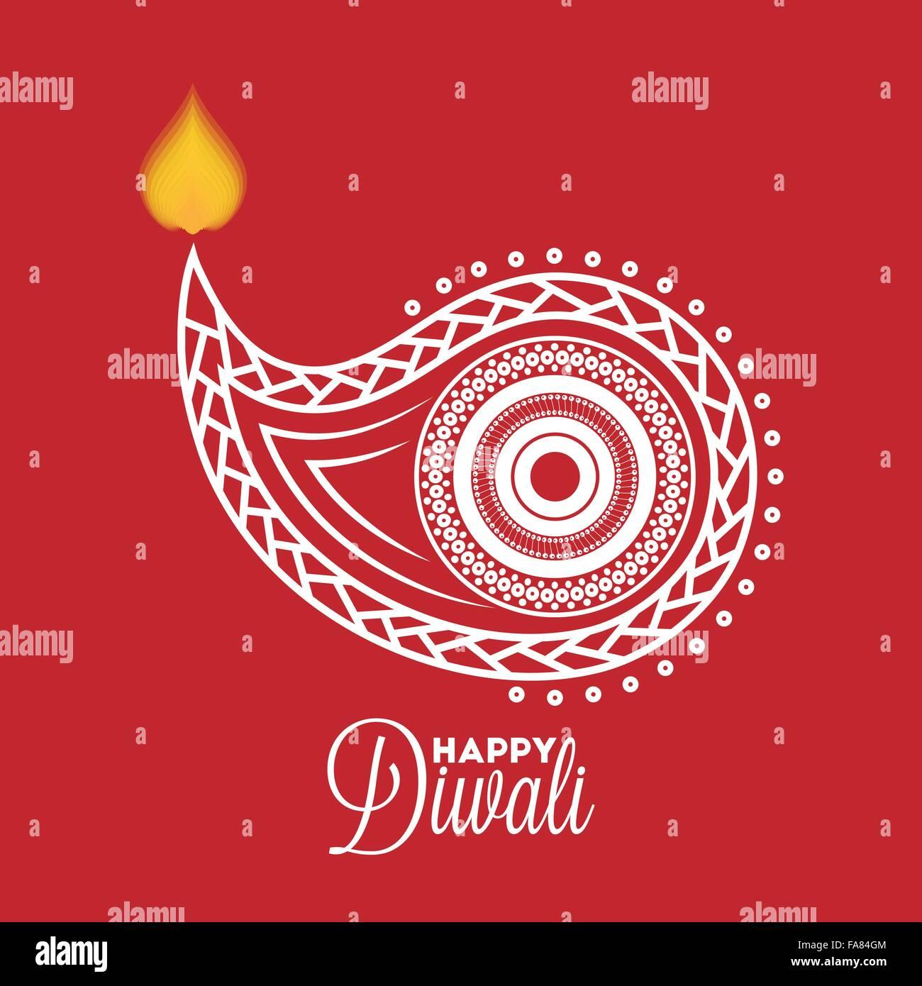 Diwali diya oil lamp for your greeting card design stock vector art diwali diya oil lamp for your greeting card design m4hsunfo