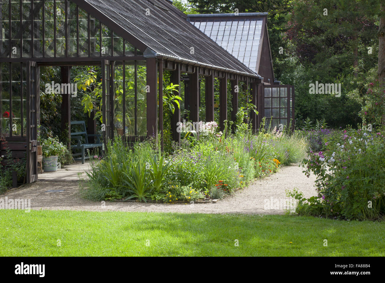 The Plant House at Hidcote, Gloucestershire. - Stock Image