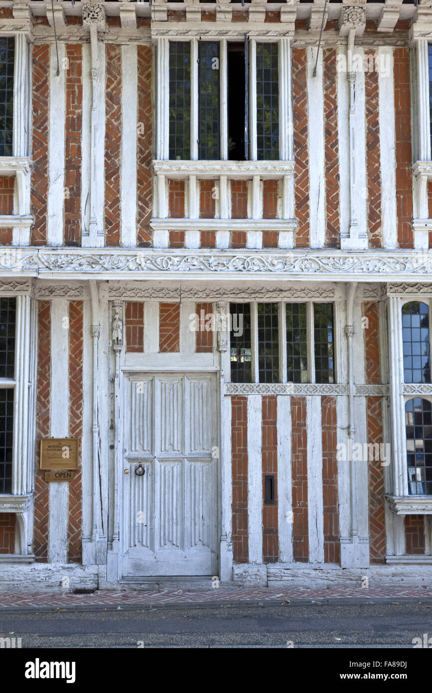 The half-timbered merchant's house Paycocke's, Coggeshall, Essex. The house was built around 1500. - Stock Image