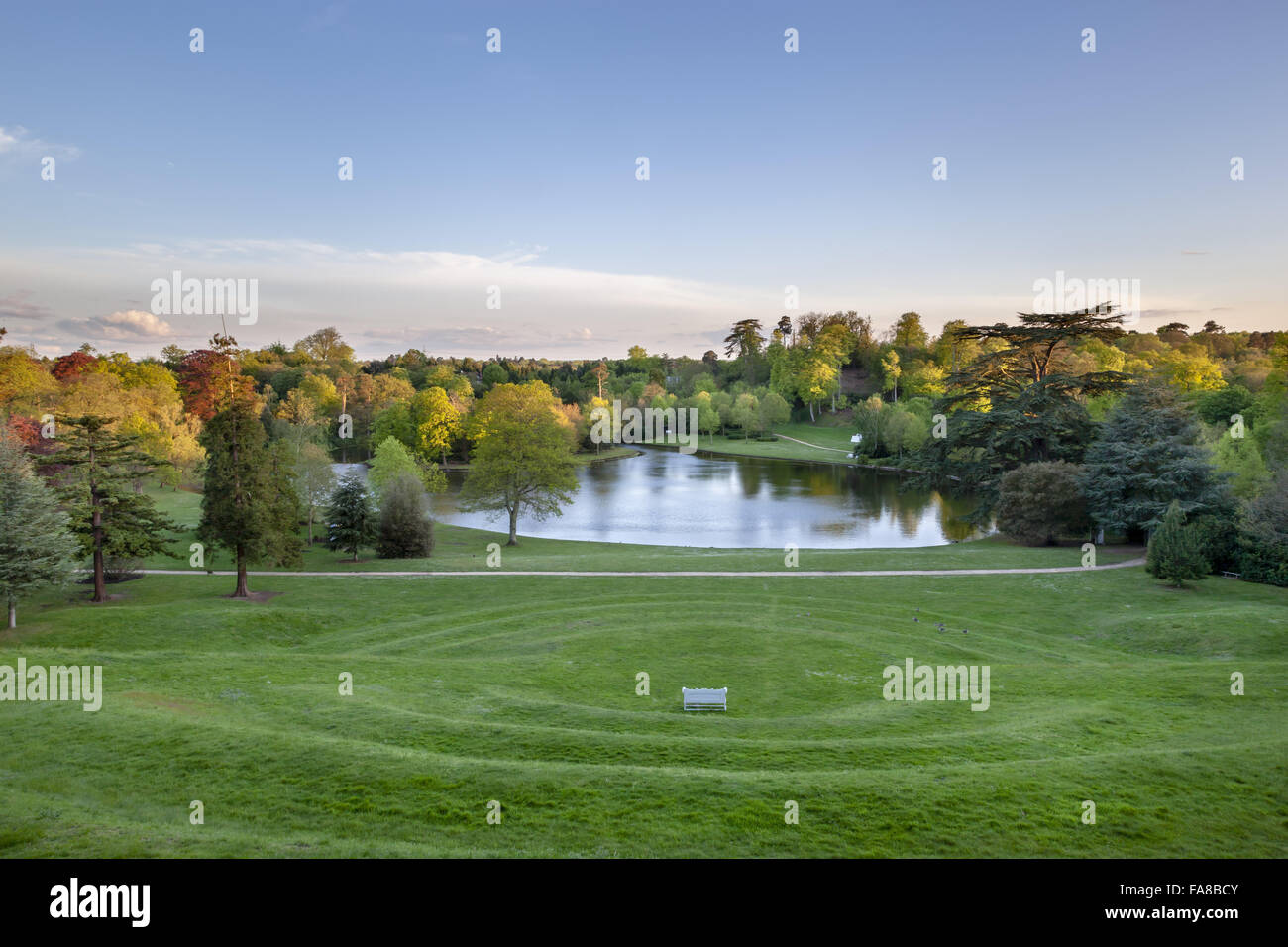 View from top of the grass amphitheatre at claremont landscape stock view from top of the grass amphitheatre at claremont landscape garden surrey the amphitheatre was created around 1722 by charles bridgeman workwithnaturefo