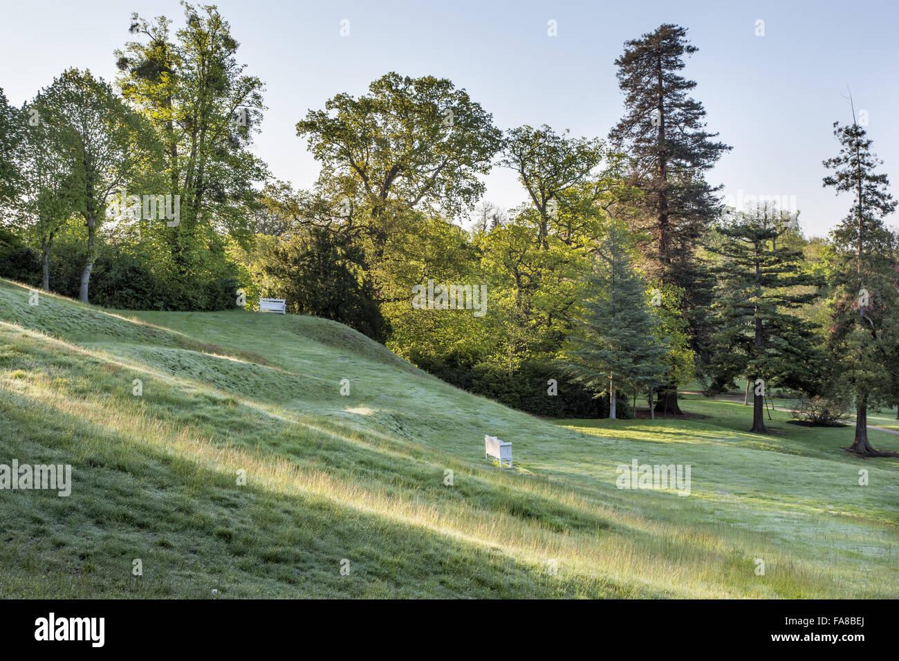 The grass amphitheatre at claremont landscape garden surrey the the grass amphitheatre at claremont landscape garden surrey the amphitheatre was created around 1722 by charles bridgeman workwithnaturefo