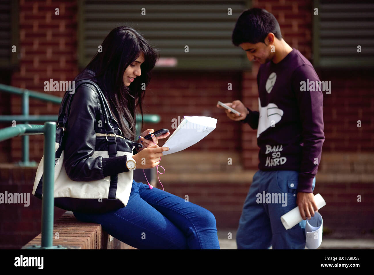 GCSE results at Stretford High School , Stretford , Manchester - Stock Image