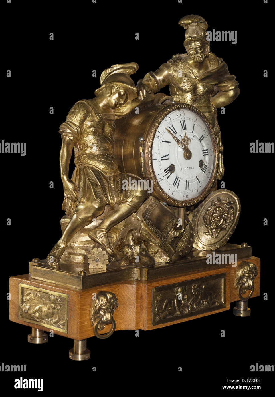 Isolated antique clock - Stock Image