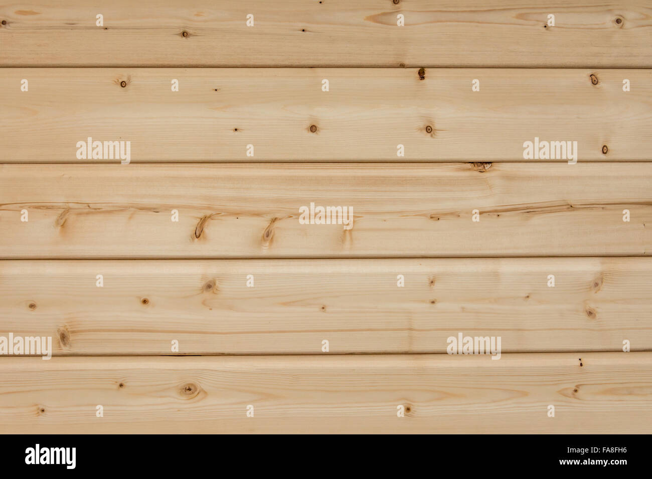 Texture, background, pattern or wallpaper of bright horizontal wood planks - Stock Image