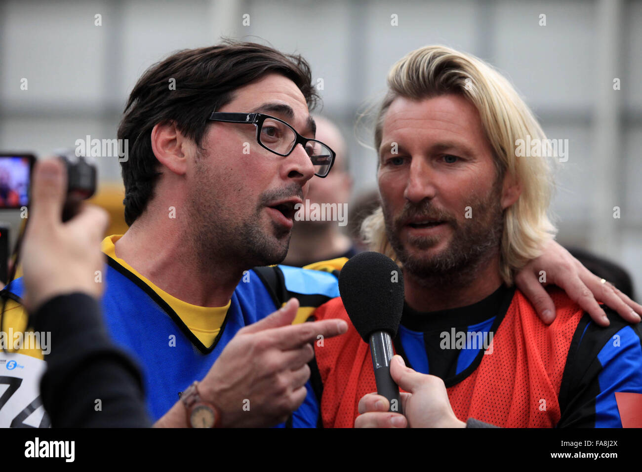 Robbie Savage and Colin Murray BBC Radio 5 Live Octoberfest in Sheffield  Saturday 13/10/12 - Stock Image