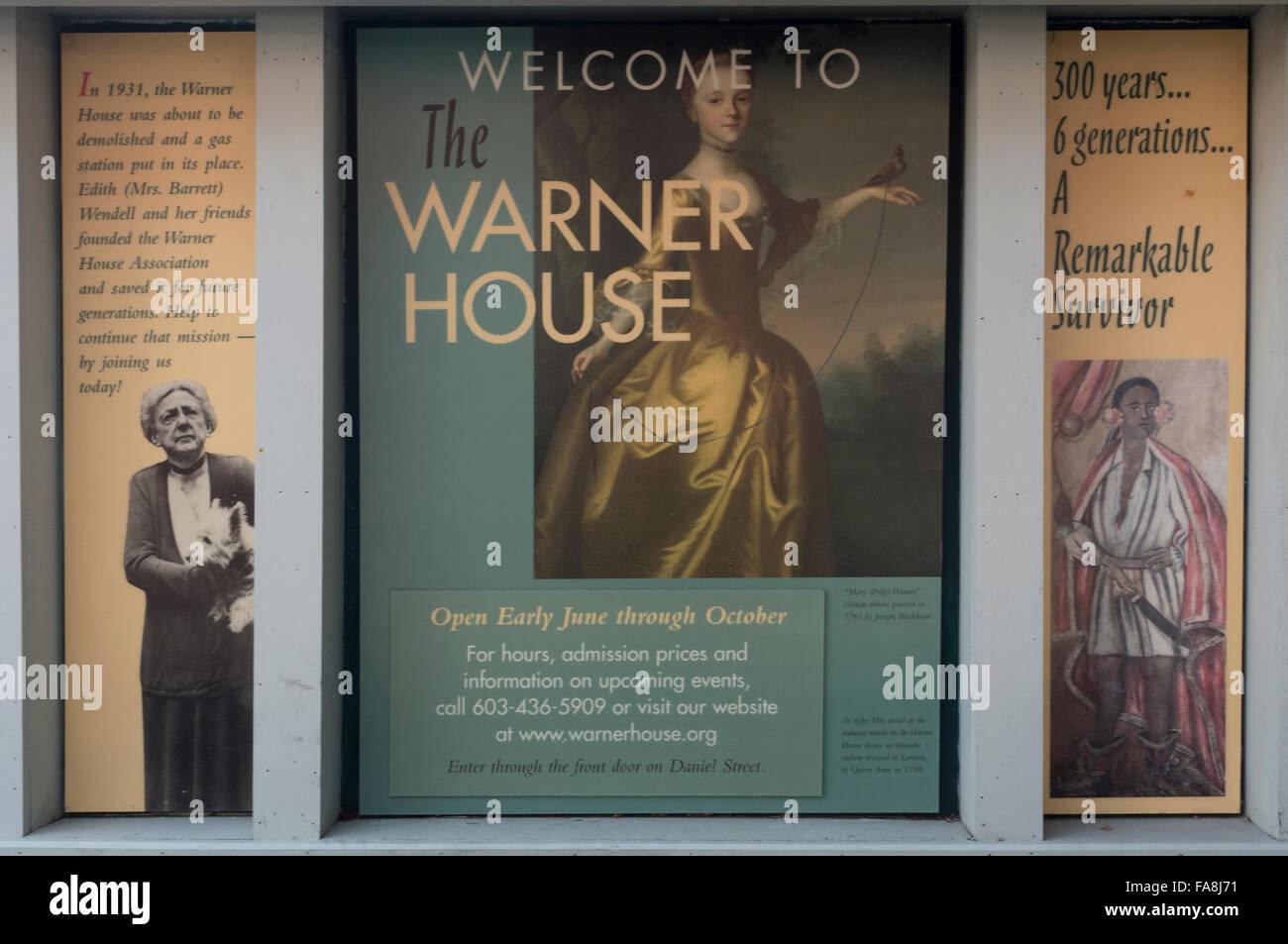 Warner house Portsmouth NH - Stock Image