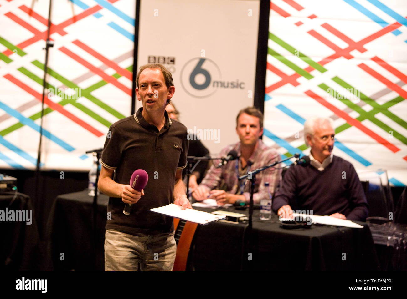 BBC Radio 5 Live Octoberfest in Sheffield Thursday Steve Lamacq DJ BBC radio 6 music Stock Photo