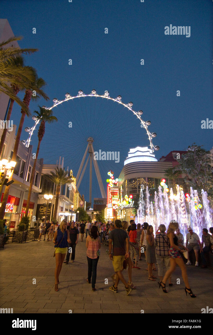 Las Vegas, Nevada, the High Roller at the Linq Hotel and Casino on the strip - Stock Image